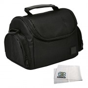 Medium Soft Padded Digital SLR Camera Travel Case/Bag with Clip-on Detachable and Adjustable Strap for Canon PowerShot SX400 IS, SX500 IS, SX510 HS, SX520 HS, SX50 HS, SX60 HS, G1 X, G7 X, SX150 IS, SX160, SX170, G12, G13, G14, G15, G16, SX30 IS, EOS M