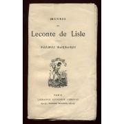 Poèmes Barbares - Alphonse Lemerre - Paris - 1947