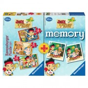 Puzzle memory aventurile lui Jake, 3 buc., 15/20/25 piese, RAVENSBURGER