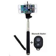 Gopromate(TM) Extendable Self Portrait Selfie Handheld Stick Monopod with Smartphone Adajustable Phone Holder and Bluetooth Remote Wireless Shutter for iPhone Samsung and other IOS and Android Smartphone (Black & Shutter)
