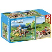 PLAYMOBIL 40th Pony Anniversary Pasture Compact Set and Pony Wagon