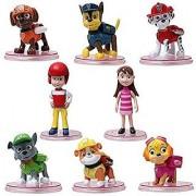 OliaDesign 8 Pcs Tv Cartoon Figures Toys Play Set Plastic Puppy Patrol Doll Action Paw Pup Buddies Figures Toys Anime Fi