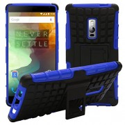 DMG Tough Armour Hard Back Kickstand Case for OnePlus Two (Blue)