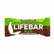 Lifebar+ Chocolat protéine verte 47g