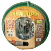 """Confezione tubo Alpin Trico verde (5/8"""") Ø15mm lungo 25mt con accessori Progarden"""