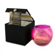 Esque Polished Globe Candle - Bright Fuchsia 4 inch Esque Lumânare cu Vas Rotund Şlefuit - Bright Fuchsia