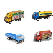 Centy Pack Of 4 Dcm Products Open Truck Tanker Container Mobile Bank