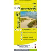Fietskaart - Wegenkaart - landkaart 101 Lille - Dunkerque - Duinkerken - Boulogne sur Mer | IGN