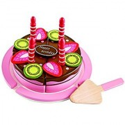 Hape - Double Flavored Birthday Cake Wooden Play Food Set
