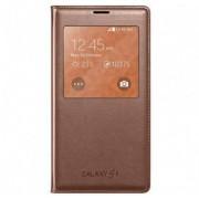 Husa Flip Cover Samsung S-View Auriu Galaxy S5