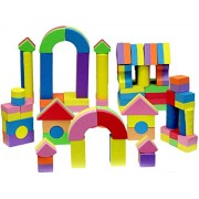 Click N' Play Non-toxic Foam Blocks, Building Block and Stacking Block, Amazing As Bath Toys, 60 Count with Carry Tote by Click N' Play