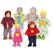 Hape E3500 Happy Famiglia di bambole caucasiana