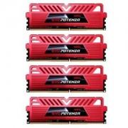 Memorie GeIL EVO Potenza Series Red 16GB (4x4GB) DDR4, 2800MHz, PC4-22400, CL16, Quad Channel Kit, GPR416GB2800C16QC