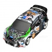 WLtoys K989 1:28 Scale 4-CH Electric R/C Four-Wheel Drive High-Speed Car Model Toy - Green + Black