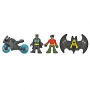 Fisher Price Imaginext Super Friends Batman Batcave Batman Robin Motorcycle and Flight Suit