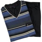 Robson tricot pyjama voor heren blauw gestreept