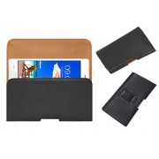 Acm Belt Holster Case For Lava A89 Cover Magnetic Closure Black