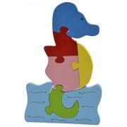 Skillofun Wooden Take Apart Puzzle Large - Seahorse, Multi Color