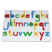 Kido Toys Alphabet Puzzle Board English Small (Print) Letters with knobs