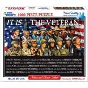 "White Mountain Puzzles - Jigsaw Puzzle 1000 Pezzi 24""X30""-It Is The Veteran"