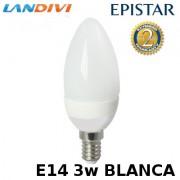 Bombilla con led Epistar E14 1x3w tipo vela Landivi blanca 6000k