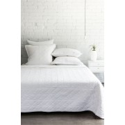 Carlos Quilt - White Bedcovers