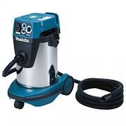 Makita VC3211MX1 Drum vacuum cleaner 32L 2600W Negro, Azul, Plata aspirador - Aspiradora (Drum vacuum cleaner, Seca y húmeda, Profesional, Suelo duro, Negro, Azul, Plata, De plástico, Acero inoxidable)
