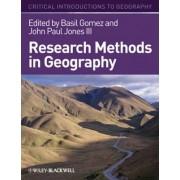 Research Methods in Geography by John-Paul Jones