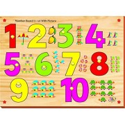 Instabuyz Creative Pictured 1-10 Counting with Knobs (10 Pieces)