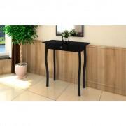 vidaXL Стилна маса за вилата, цвят черен