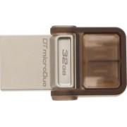 Kingston Data Traveler MicroDuo 32 GB OTG Drive(Brown, Type A to Micro USB)