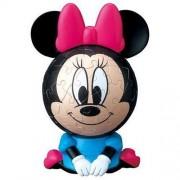 3D sphere puzzle Big Face Mini Disney 60 Large Piece Minnie Mouse ( diameter of about 7.6cm) by Yanoman
