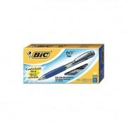 Bu3 Retractable Gel Roller Ball Pen, Medium, .7mm, Blue, Dozen