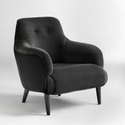 "La Redoute Interieurs Sessel ""Lipstick"", Samt, gesteppte Rücklehne"