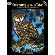 Creatures of the Night Stained Glass Coloring Book by Jessica Mazurkiewicz