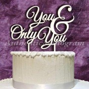 aMonogramArtUnlimited You and Always You Wooden Cake Topper 94135P Color: Island Sand