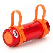 T-01 Natación Buceo impermeable MP3 Player w / auriculares - Rojo + naranja (8GB)