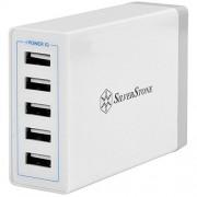 Silverstone 40151 40 W 8 A 5-Port Caricatore USB per Bianco