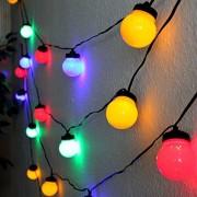 Feestverlichting met 20 gekleurde LED Lampen (12,50M)
