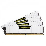 Memorie Corsair Vengeance LPX White 64GB (4x16GB) DDR4, 2666MHz, 1.2V, CL16, Dual Channel Quad Kit, CMK64GX4M4A2666C16W