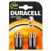 Duracell 4 x bateria alkaliczna Duracell Duralock C&B LR03 AAA (blister)