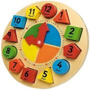 Wooden Clocks Toys Digital Geometry Clock Educational Toys