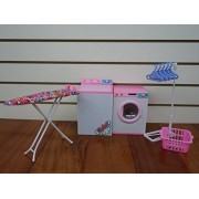 Huaheng Toys Barbie-Size Dollhouse Furniture- Laundry Room With Iron & Ironing Table