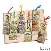 """4 Dozen (48) Laminated Dinosaur Dino 6"""" Bookmarks Party Favors Teacher Rewards T Rex Velociraptor Steg"""