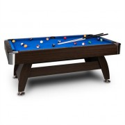 oneConcept Leeds Billiard Table 8' (122 x 79 x 244 cm) Queues Ball Set Blue