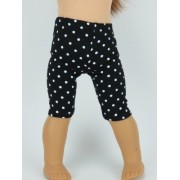 "Black And White Polka Dot Leggings! 18"" Dolls"