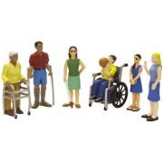 Miniland 27389 - Set di figurine di persone con disabilità, 6 pz., 12,5 cm