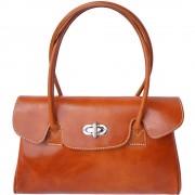 """Florence Leather Market Borsa """"Lady"""" in pelle lucida di vitello tamponata a mano e conciata a vegetale (6544)"""
