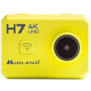 Midland C1236 Videocámara deportiva (4K/10fps, FullHD 1080/60fps) + Control remoto pulsera (WiFi, sumergible hasta 30 m, gran angular 140º, pantalla integrada) verde fluor y negro