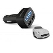 4v1 USB voltmeter, teplomer, ampérmeter do auta 12-24V s modrým podsvietením